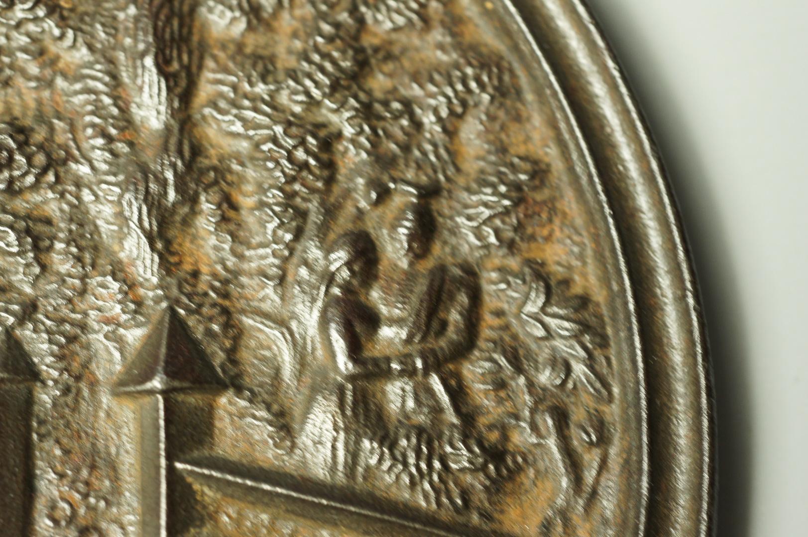 Плакетка панно Казаки чугун