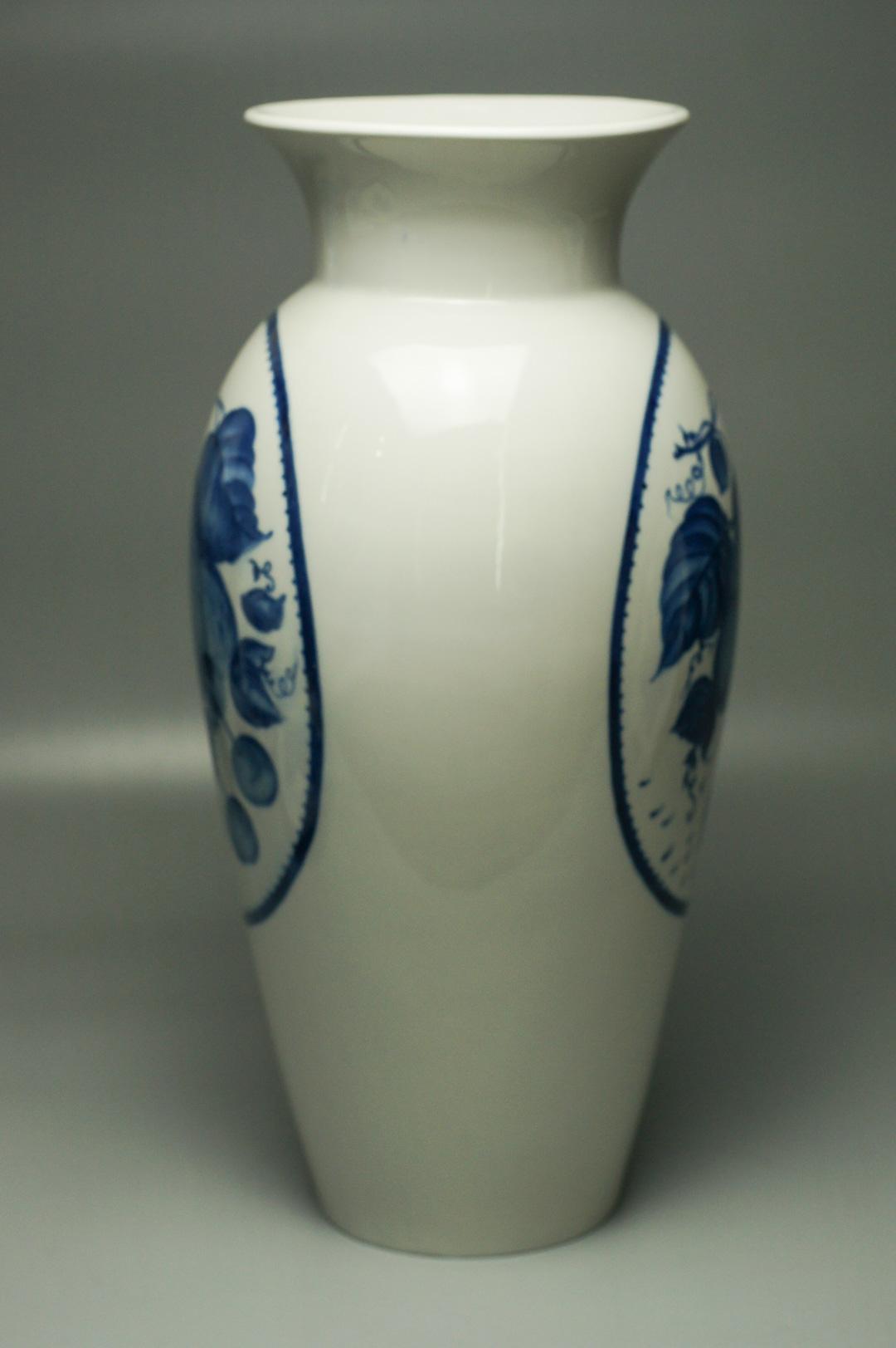 Ваза большая интерьерная бело-синяя ЛОЗ
