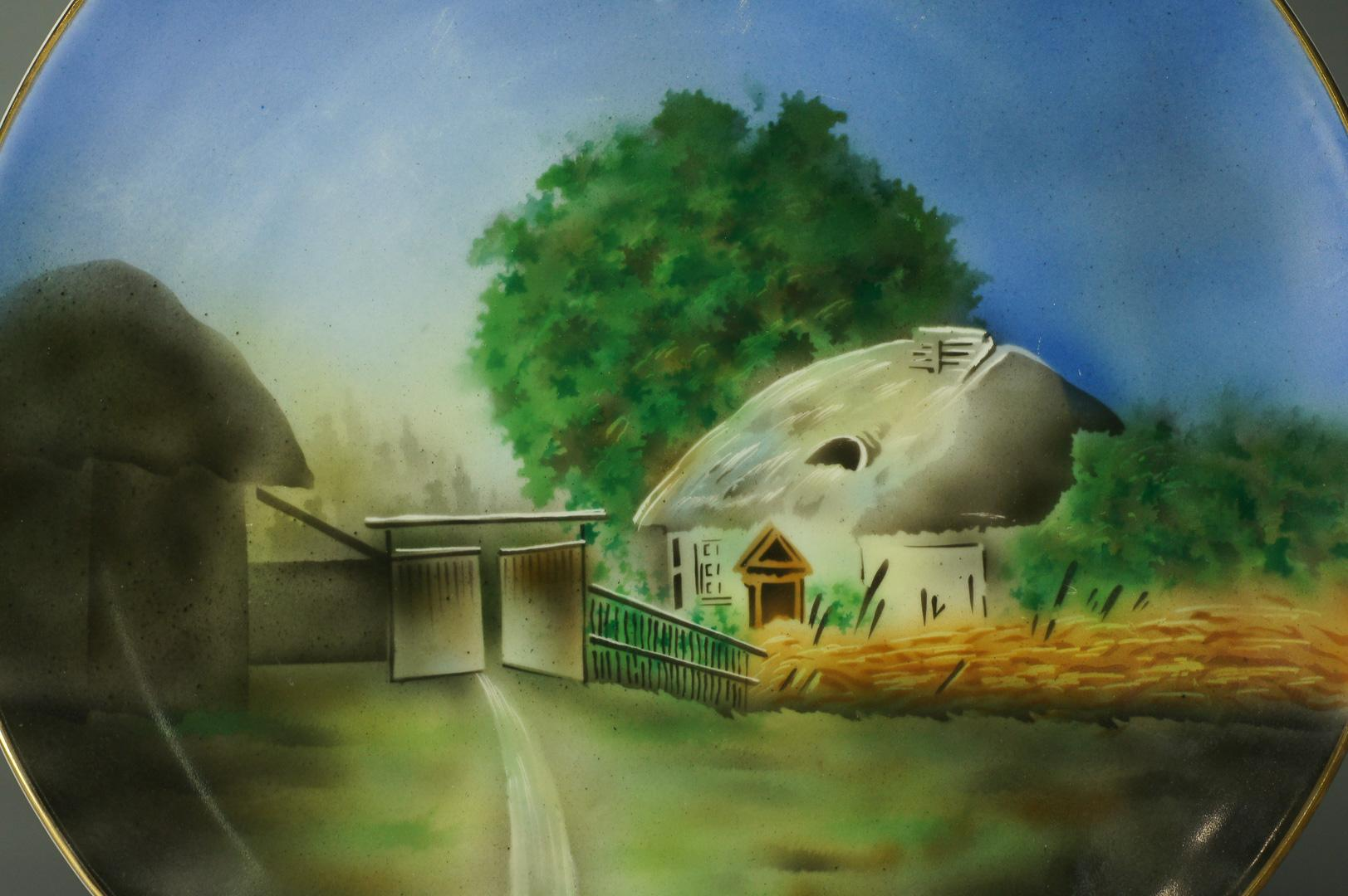Тарелка настенная Хуторок Дулево