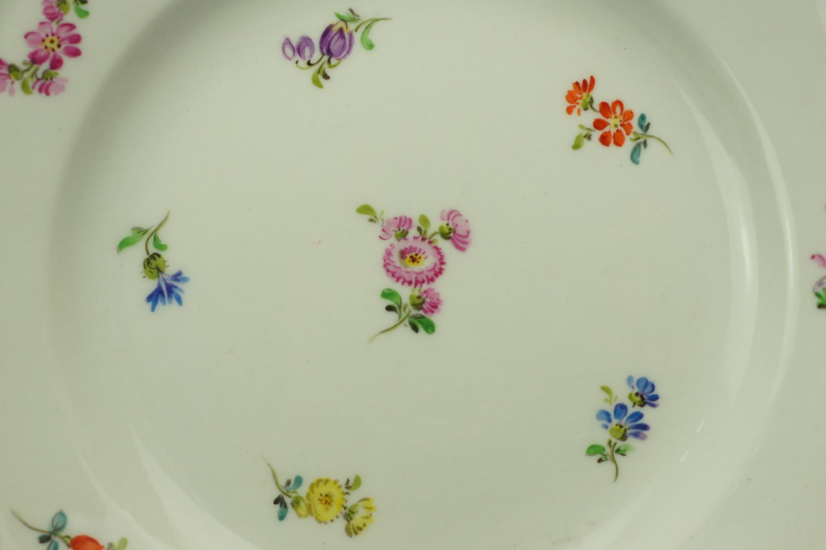 Тарелки десертные Цветы Мейсен 6 штук