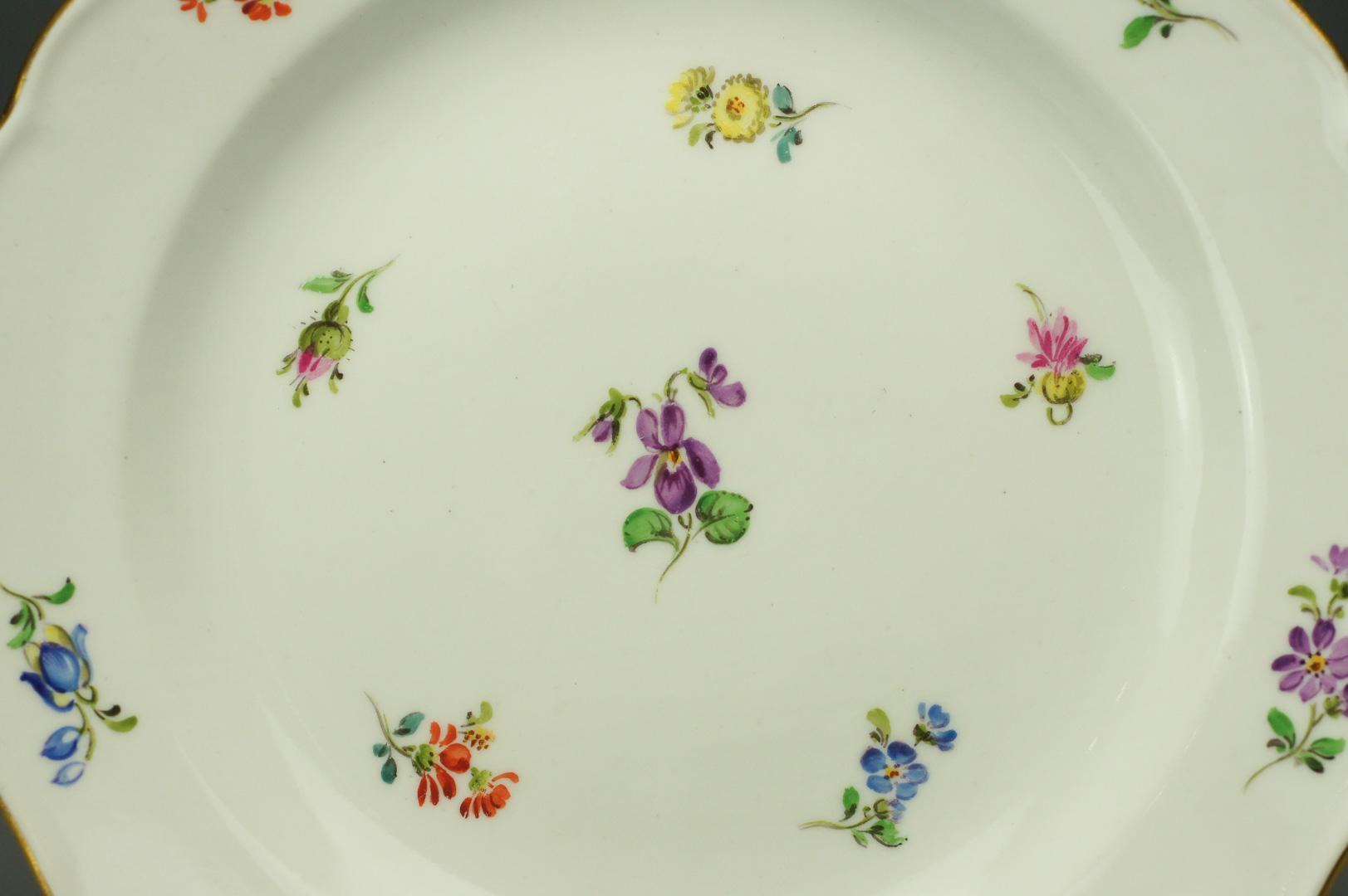 Тарелки десертные Цветы Мейсен 5 штук