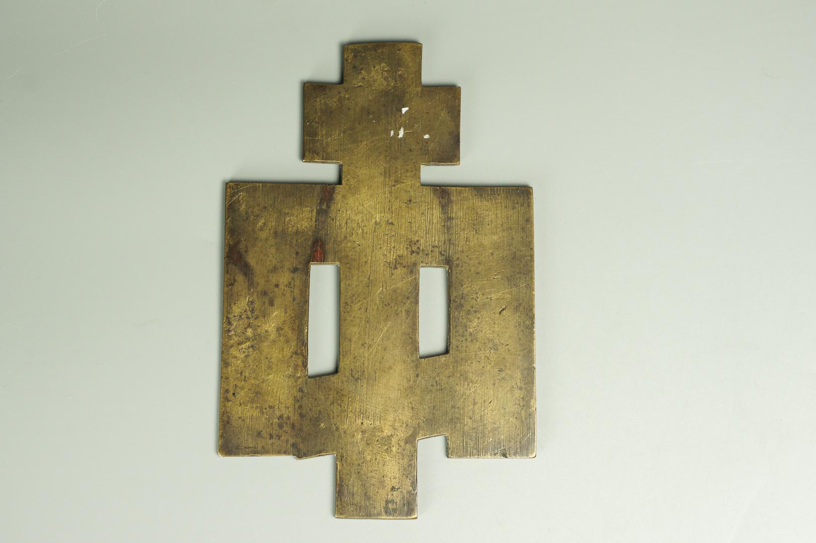 Крест киотный с предстоящими эмаль