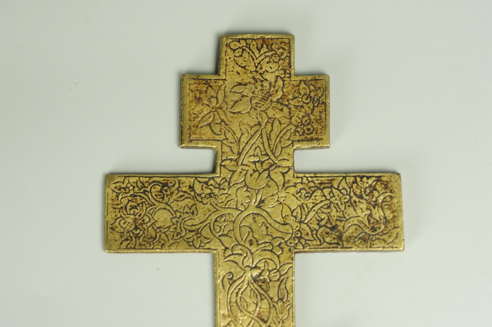 Крест киотный поморский эмаль