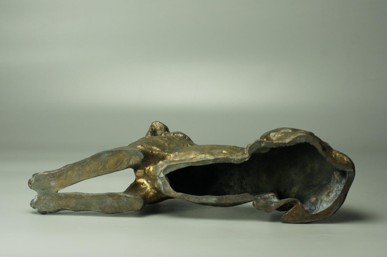 Статуэтка Охотничья собака пес силумин