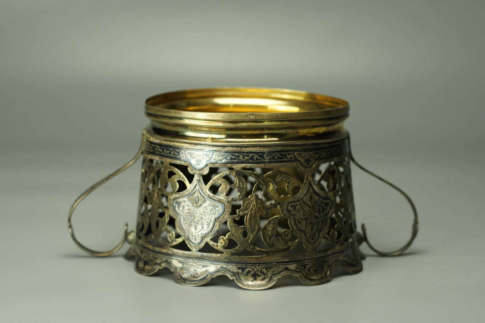 Конфетница серебро чернь Кубачи