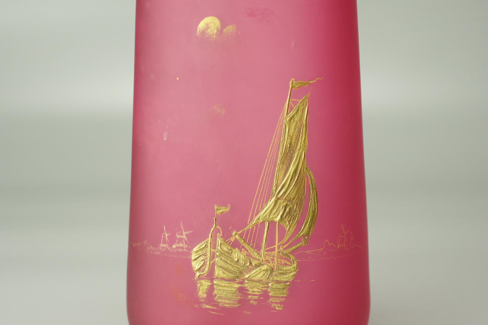 Парные вазы Парус стекло Легра