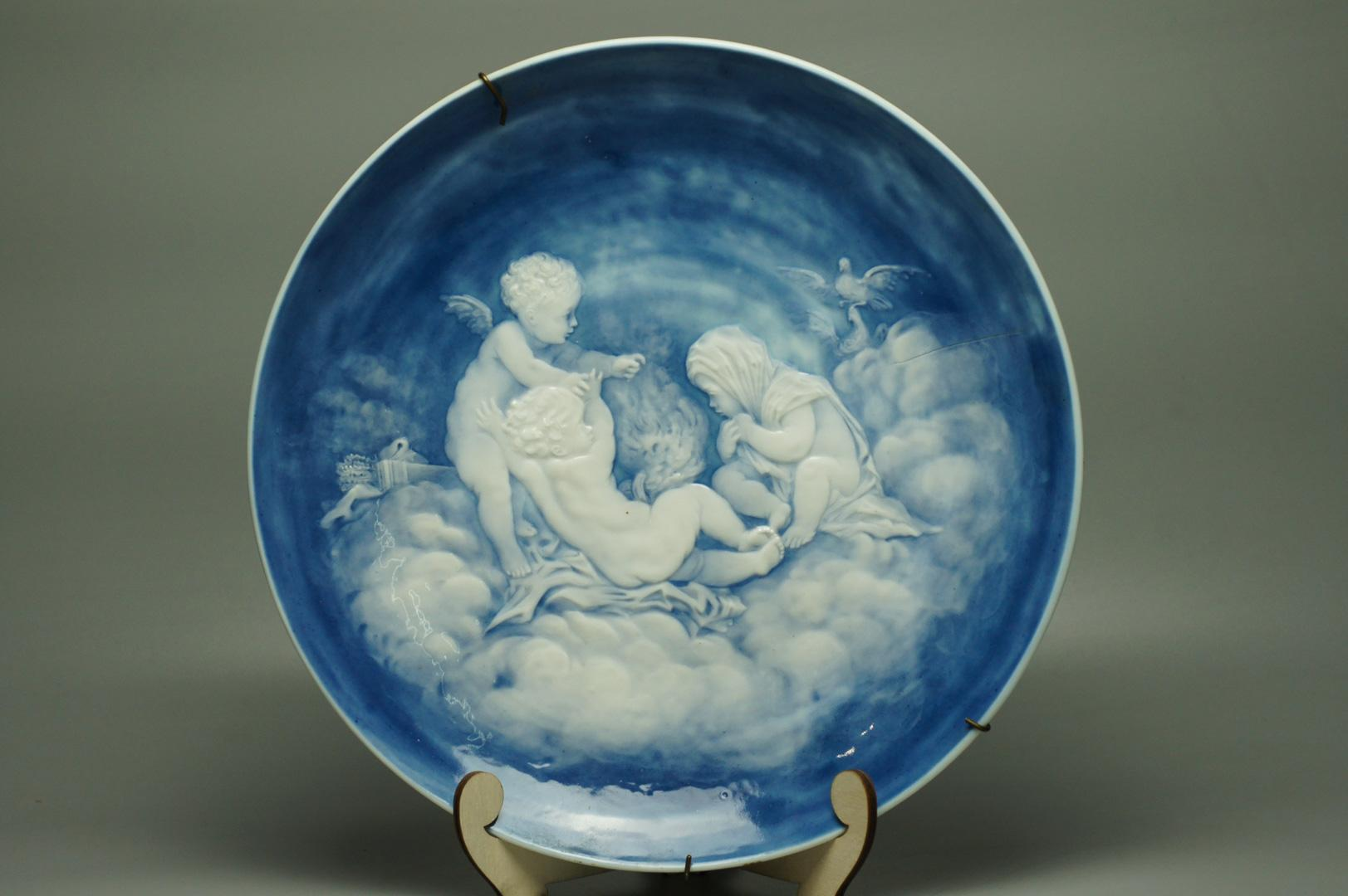 Тарелки декоративные Путти Александр III