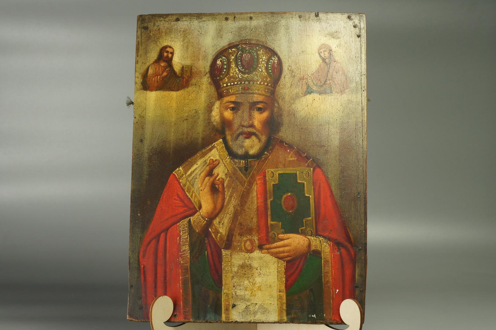 Икона Святой Николай Чудотворец большая