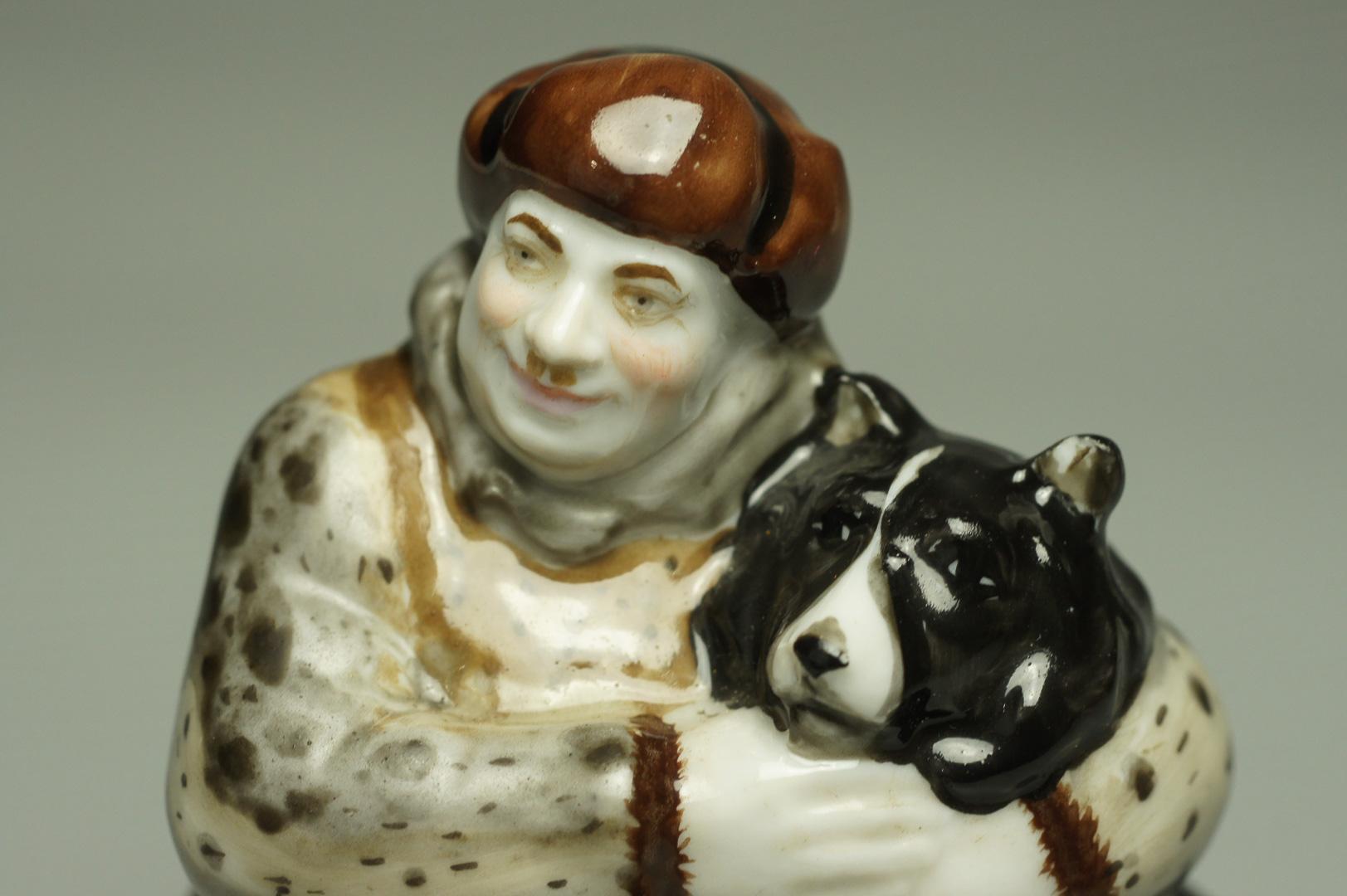 Статуэтка Папанин с собакой ЛФЗ