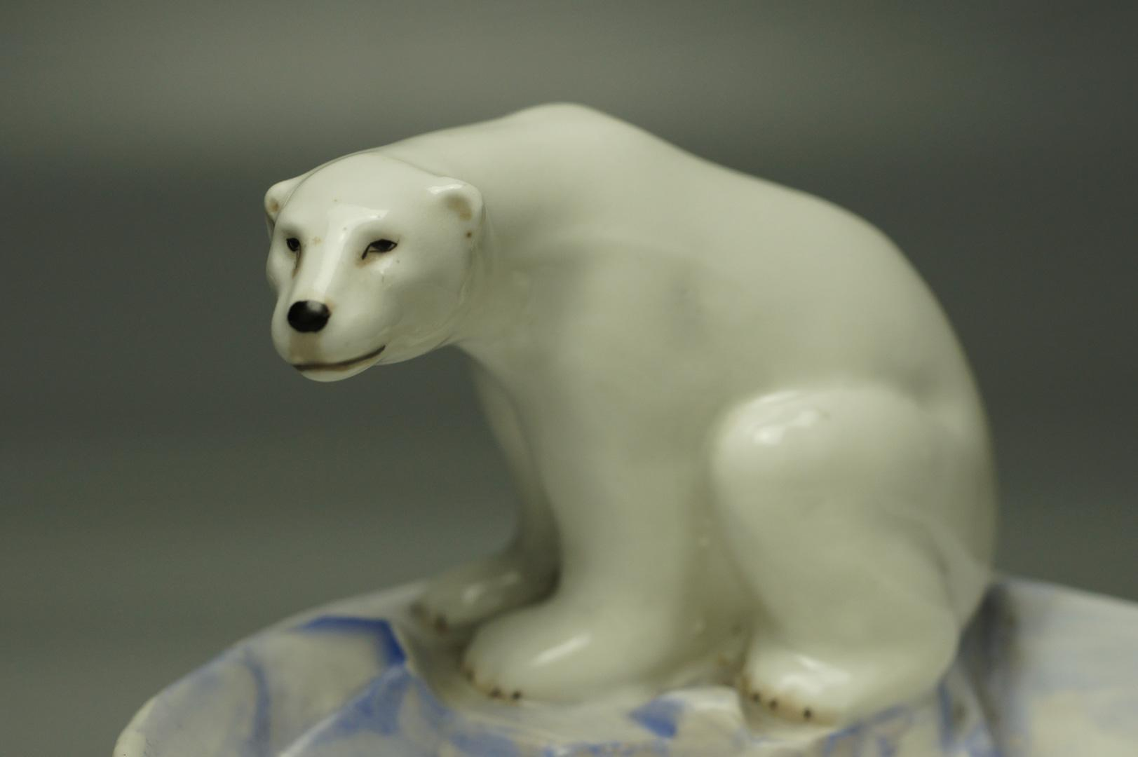 Пепельница Белый медведь на охоте ЛФЗ