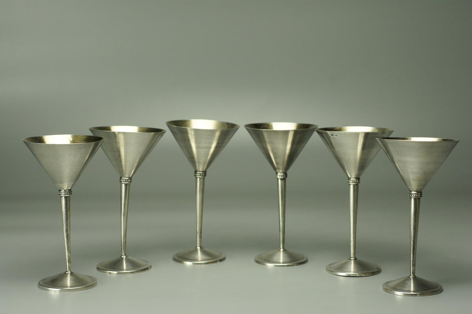 Рюмки серебро 6 штук