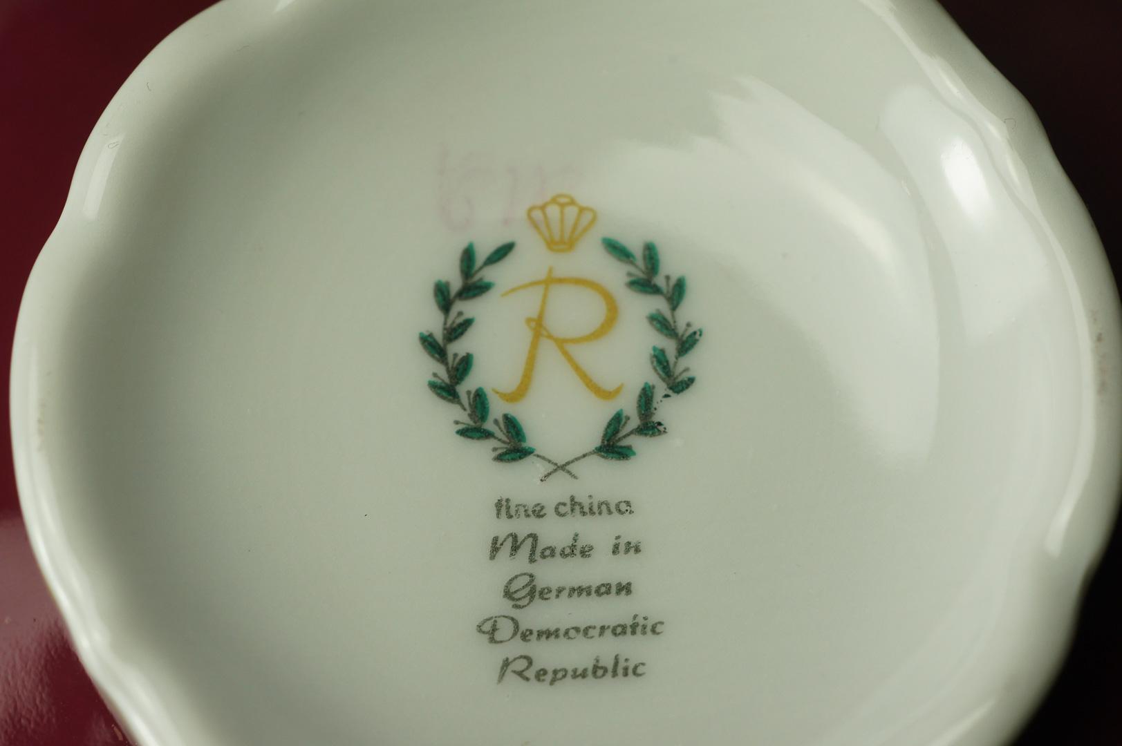 Чашка бульонная с блюдцем Райхенбах