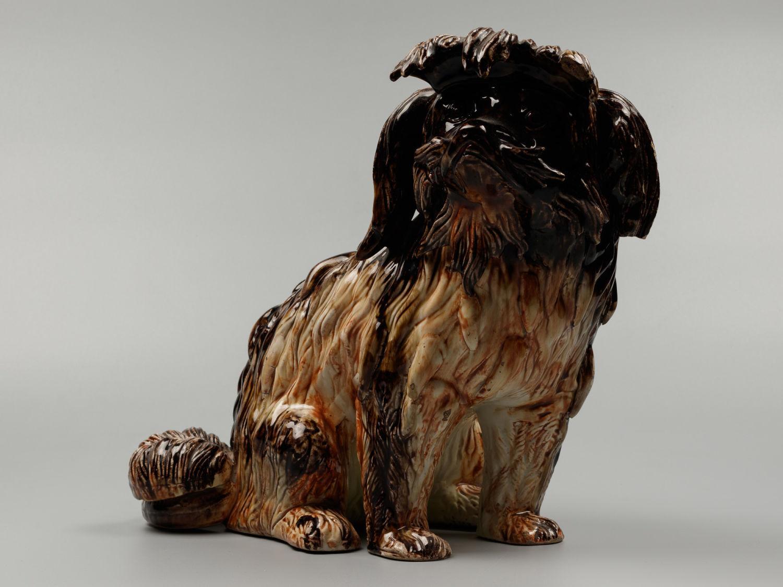 Статуэтка собака Грифон коричневый