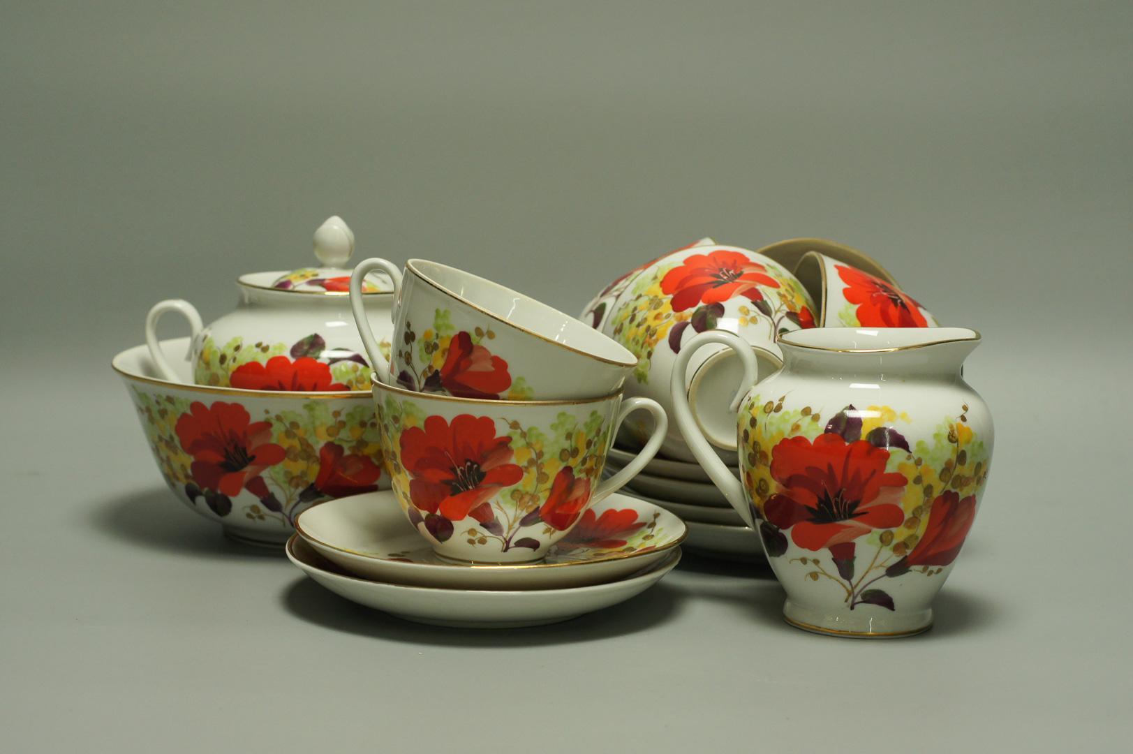 Сервиз чайный Цветы юга ЛФЗ
