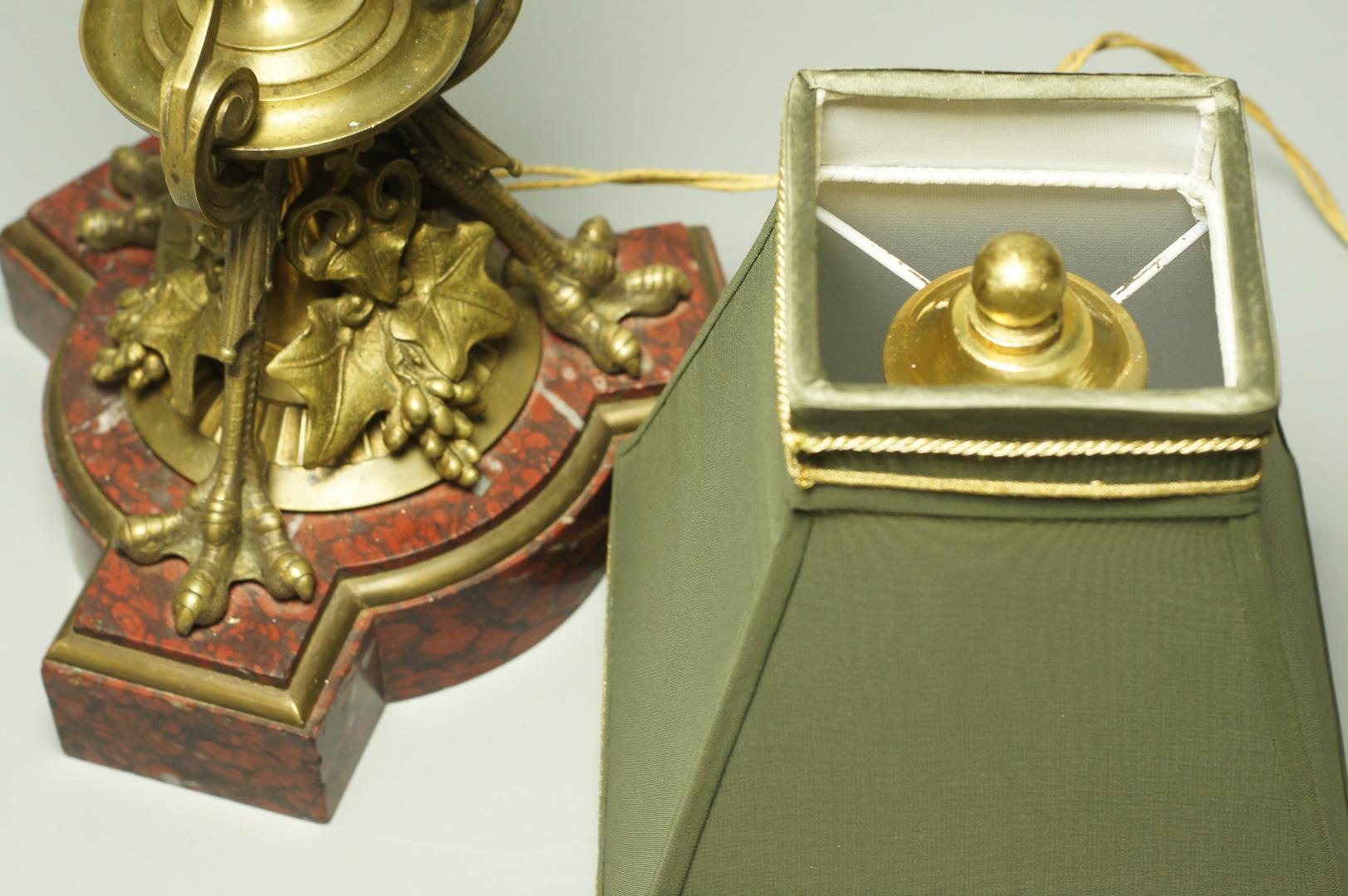 Лампа настольная бронза в античном стиле