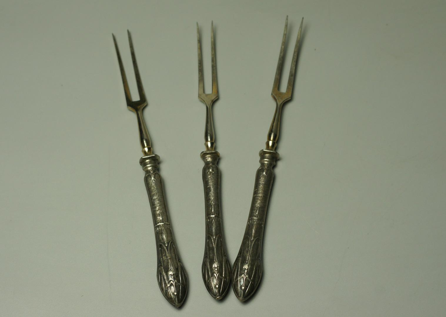 Вилки для мяса модерн серебро