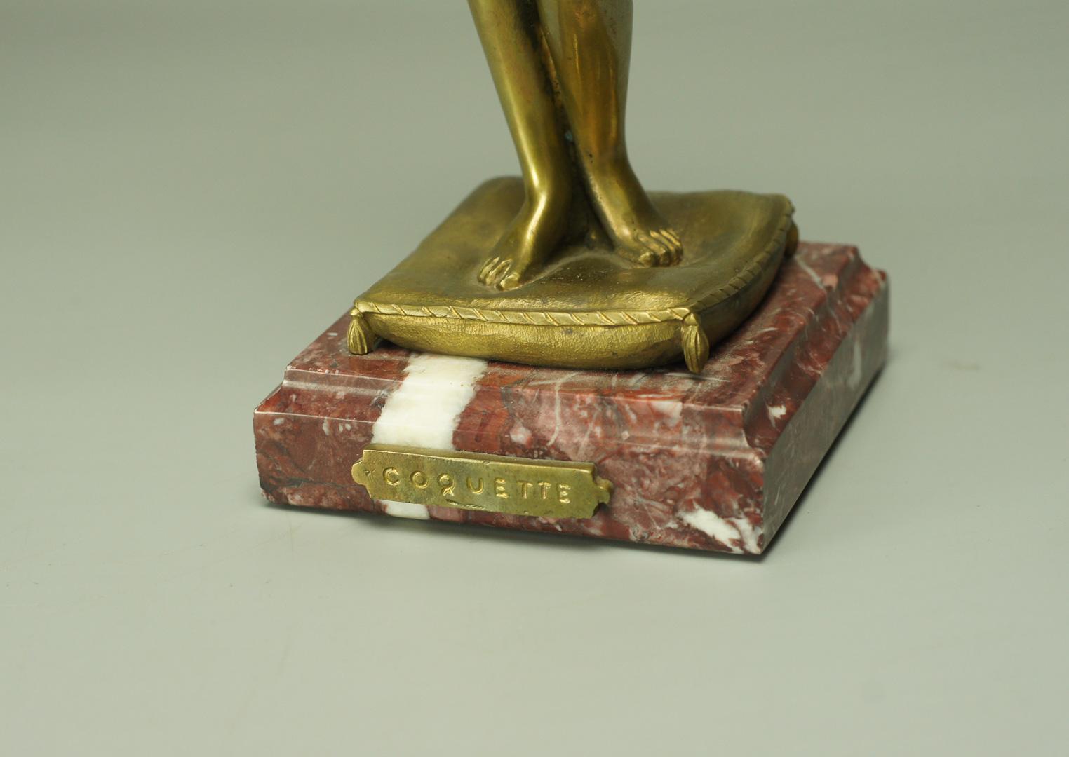 Статуэтка Кокетка бронза