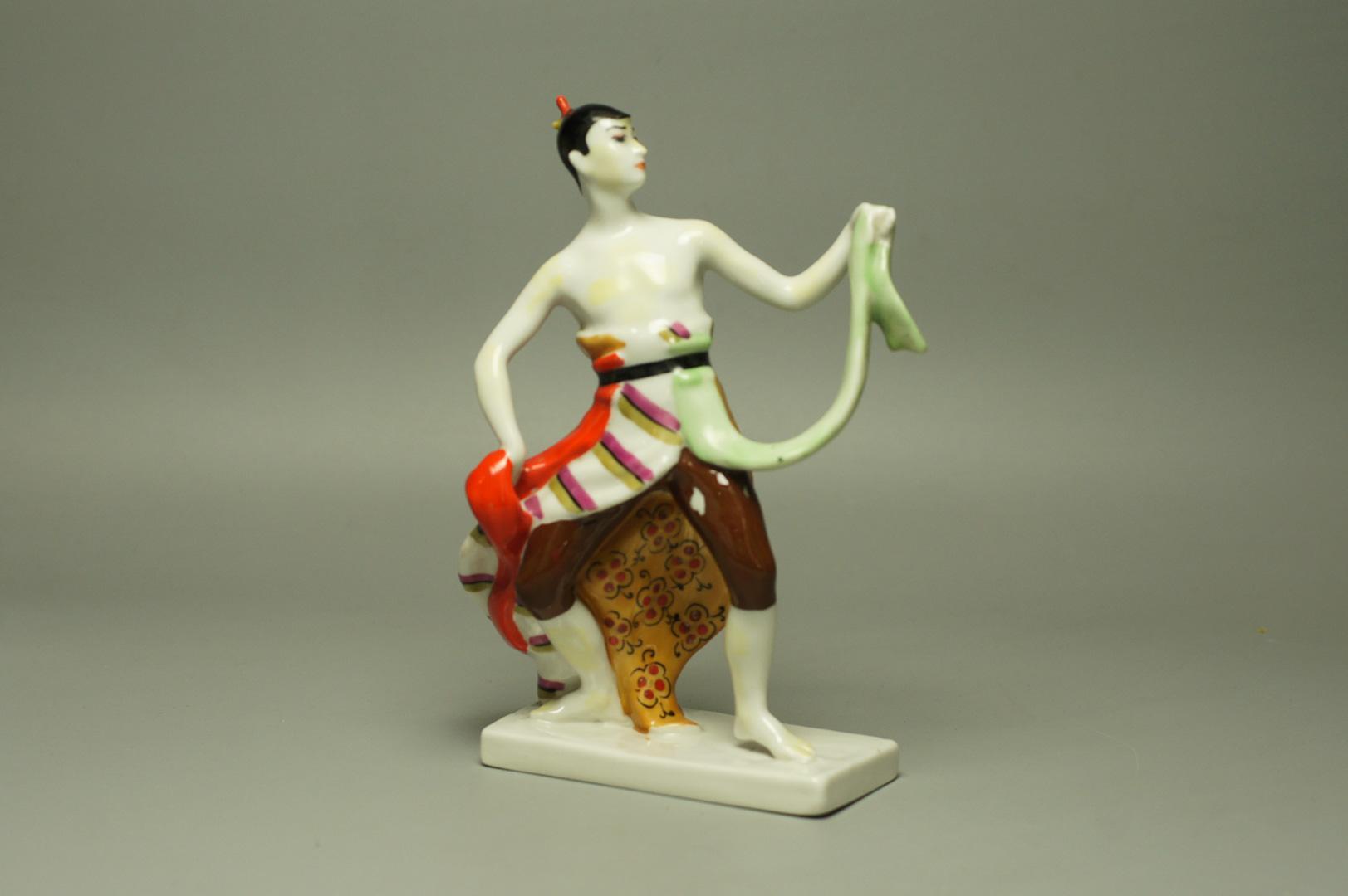 Индонезийский танец фарфор ЛЗФИ пара! комплект!