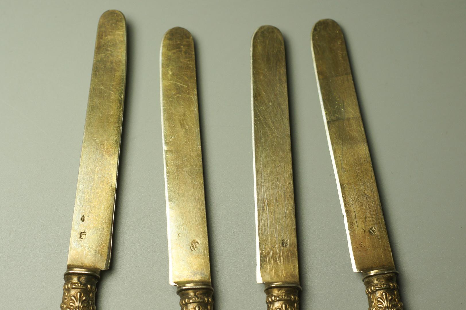 Ножи серебро Франция единорог