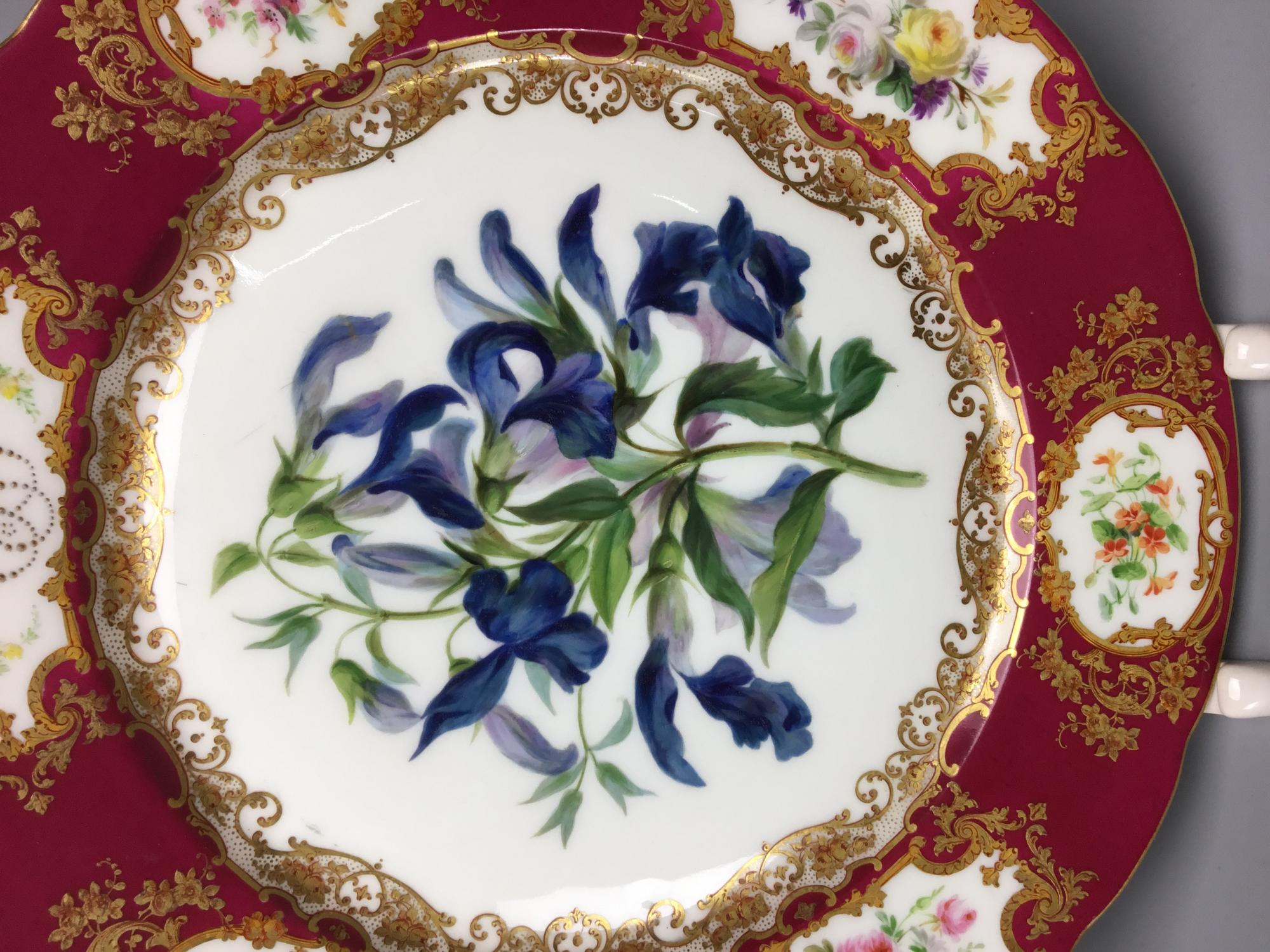 Тарелка декоративная цветы Франция