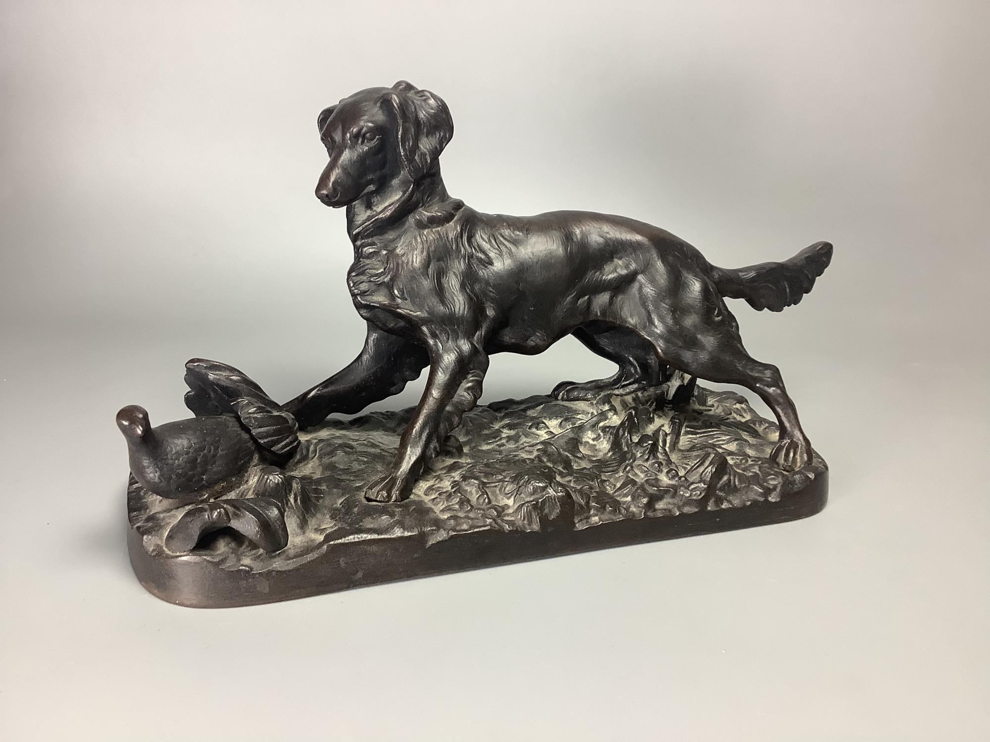 Статуэтка Охотничья собака Касли царизм