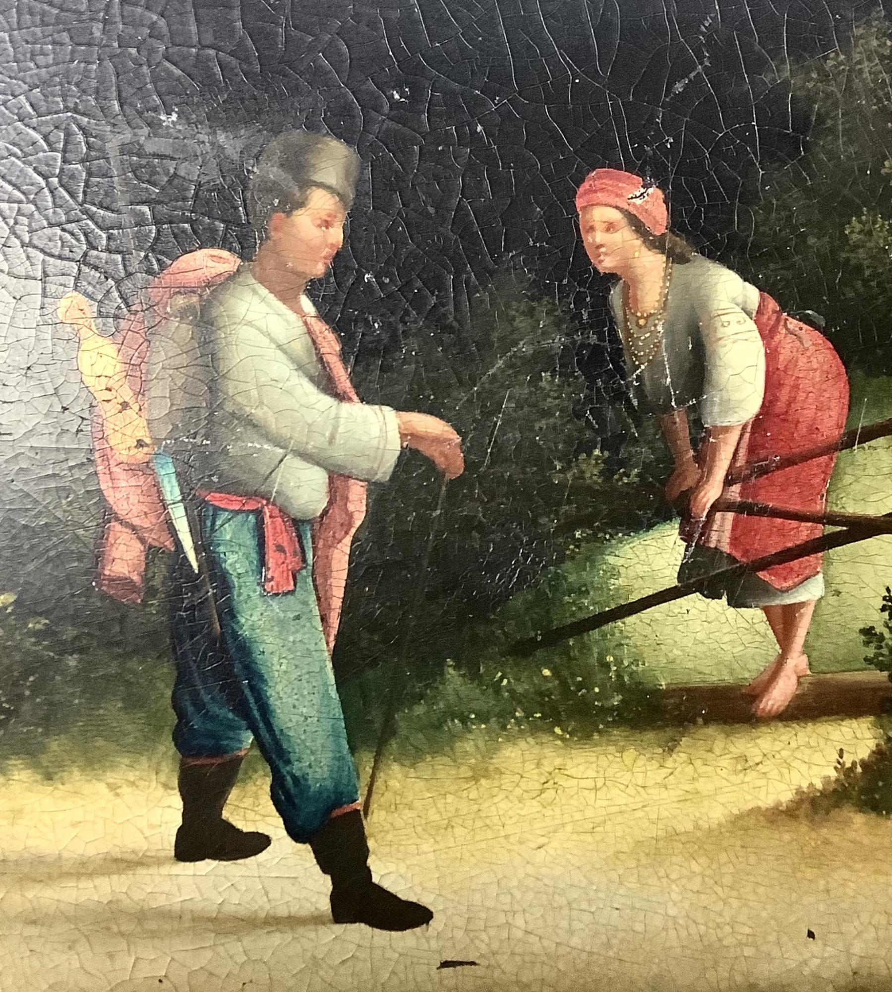 Шкатулка старинная лаковая